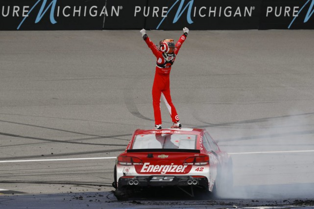 Kyle Larson... (PHOTO Paul Sancya, AP)