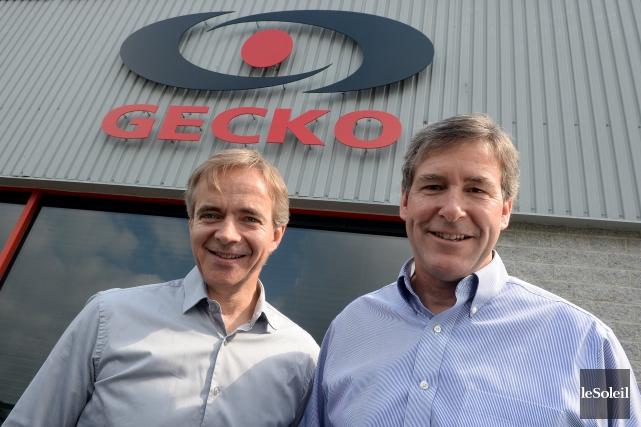 Les deux fondateurs de Groupe Gecko Alliance, Benoît... (Le Soleil, Erick Labbé)