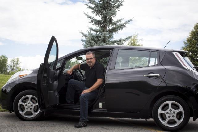 L'initiative de Bruno Marcoux, propriétaire d'une Nissan Leaf,... (La Presse)