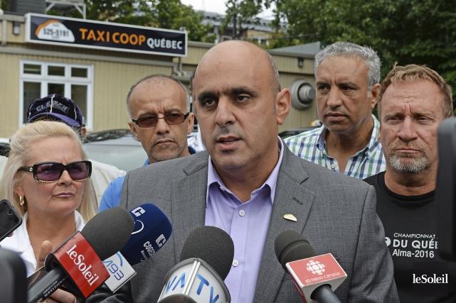 Le président de Taxi-Coop et représentant du Regroupement... (Photothèque Le Soleil, Patrice Laroche)