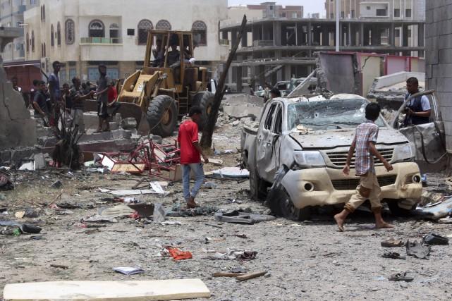 Au Yémen, au moins 71 membres des forces... (AFP, Saleh Al-Obeidi)