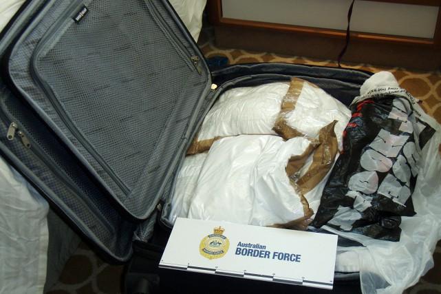 95kilos de cocaïne ont été trouvés dans les... (Photo Australian Boarder Force via AP)