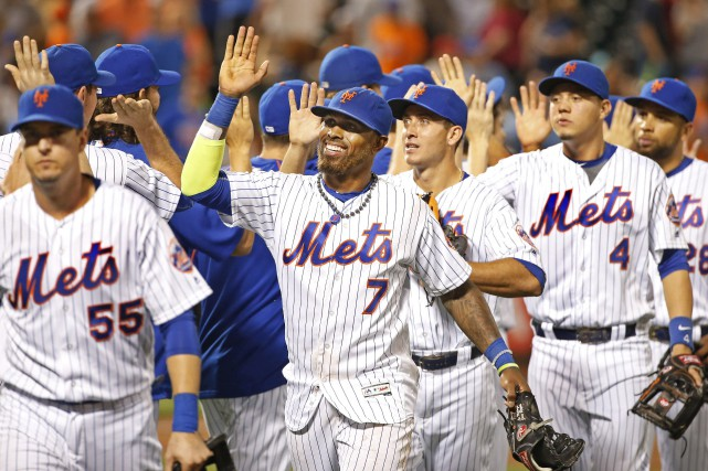 Les Mets de New York ne sont qu'à... (Photo Kathy Willens, AP)
