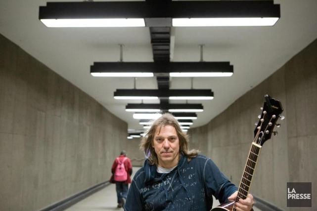 Daniel Lalonde est président duRegroupement desmusiciens du métro... (PHOTO NINON PEDNAULT, LA PRESSE)