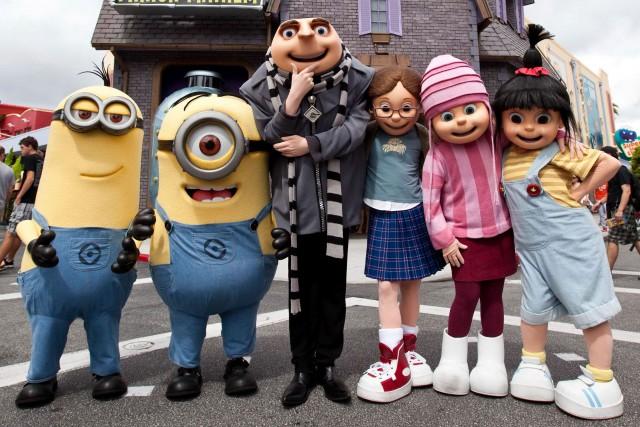 Les personnages de Détestable moi.... (Photo Universal Orlando)