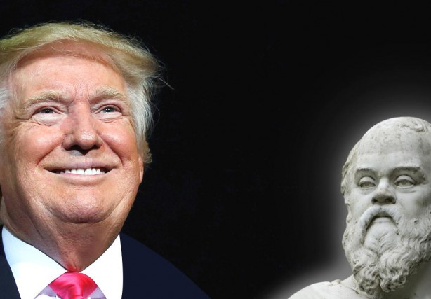 Donald Trump et Socrate... (PHOTOMONTAGE LA PRESSE)