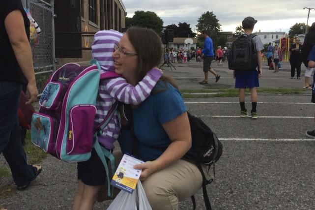 Lundi était le premier jour d'école à vie... (Collaboration spéciale Patricia Cloutier)