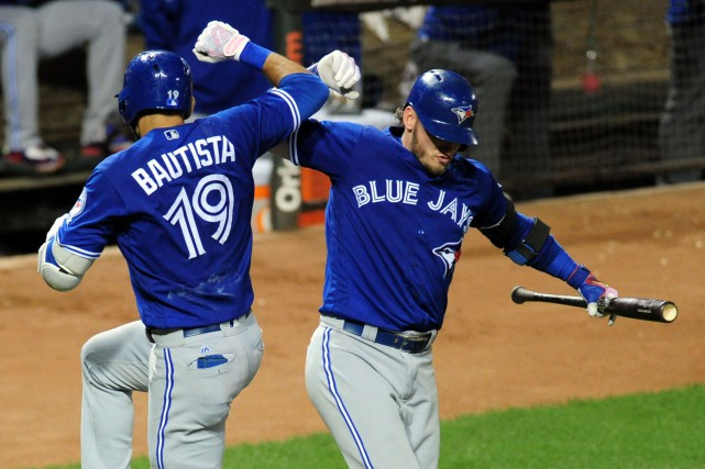 Jose Bautista et Josh Donaldson... (Photo USA Today Sports)