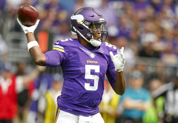Le quart-arrière des Vikings du Minnesota, Teddy Bridgewater.... (Photo Bruce Kluckhohn, USA Today Sports)