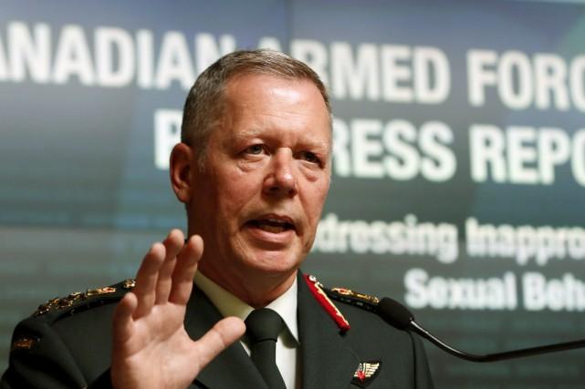 Le chef d'état-major de la défense, Jonathan Vance,... (Fred Chartrand, La Presse canadienne)