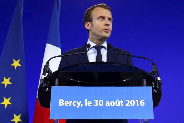 Emmanuel Macron a décidé de quitter le cabinet... (AFP, Matthieu Alexandre)