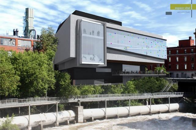 La proposition d'agrandissement du Musée des beaux-arts de... (Espace vital Architecture)