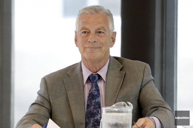 Le président de la SVA, Arthur Gobeil, a... (Photo Le Quotidien, Jeannot Lévesque)
