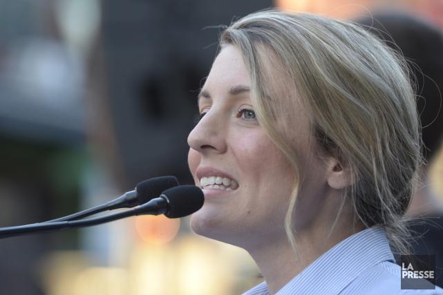 La ministre du Patrimoine canadien Mélanie Joly a... (La Presse photo Bernard Brault)