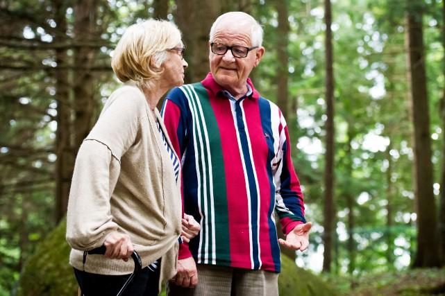 L'ex-maire d'Orford, Pierre Bastien, et sa conjointe, Lise... (Spectre Média, Jessica Garneau)