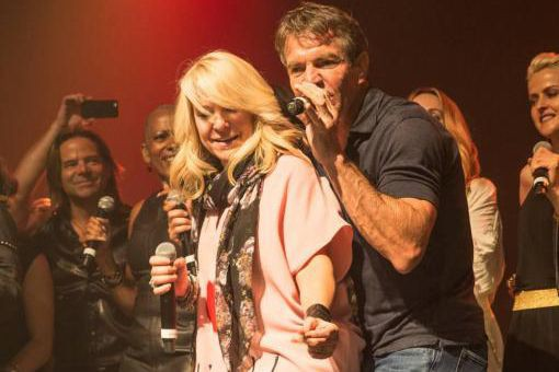 Lulu Hughes et Dennis Quaid... (Photo Laurence Labat, fournie par Communications Narimane)