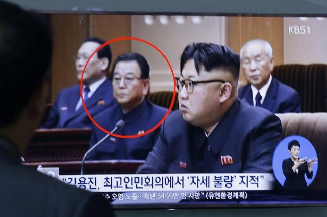 Kim Yong-Jin, encerclé, avait rang de vice-premier ministre.... (PHOTO AHN YOUNG-JOON, ARCHIVES AP)