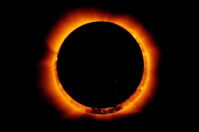 Une éclipse, en 2012.... (PHOTO ARCHIVES NASA)