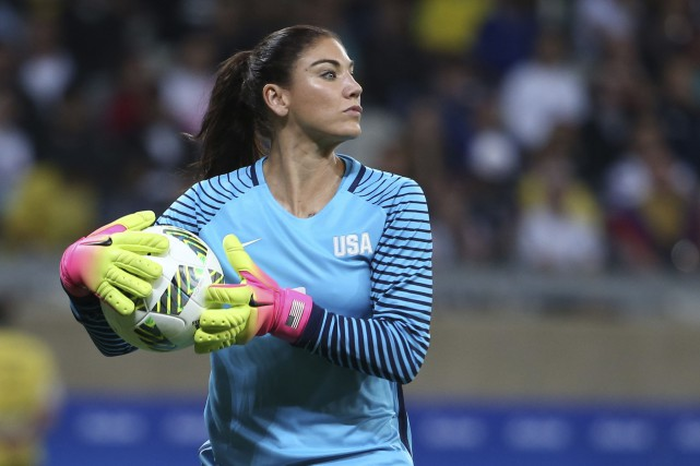 Hope Solo... (Photo Eugenio Savio, AP)