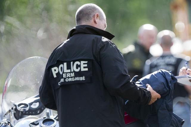 Un motard appartenant auxRedDevilsde Montréal qui avait fait... (Archives La Presse)