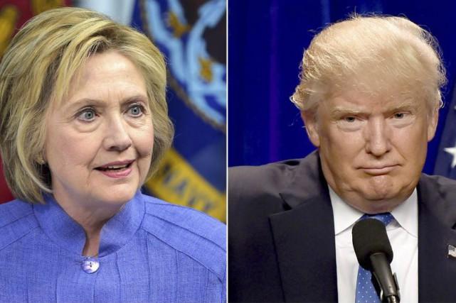 Hillary Clinton et Donald Trump.... (PHOTOS AFP)