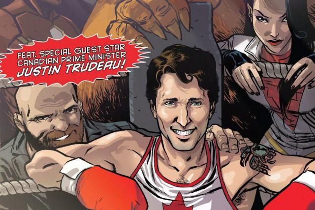 Détendu, Justin Trudeau apparaît tout sourire dans un... (PHOTO LA PRESSE CANADIENNE/MARVEL)