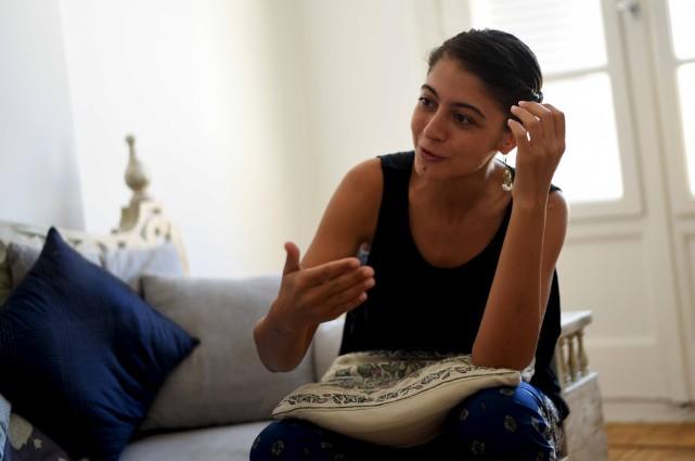 Noha Elostaz est la première femme en Égypteà... (AFP, Mohamed El-Shahed)