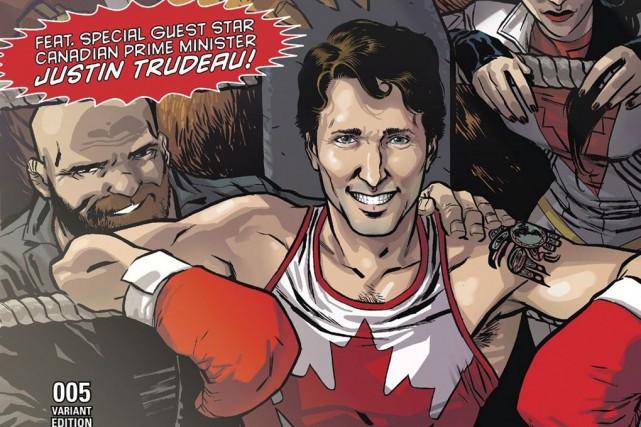 Marvel avait dévoilé la couverture où apparaît Justin... (Archives La Presse canadienne)