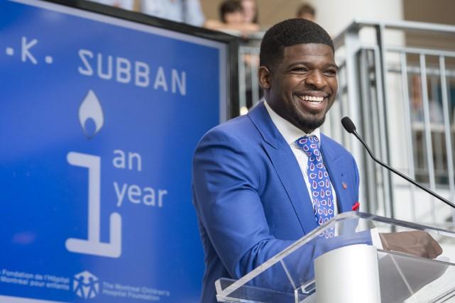 P.K. Subban était de retour dans la métropole... (La Presse Canadienne, Paul Chiasson)