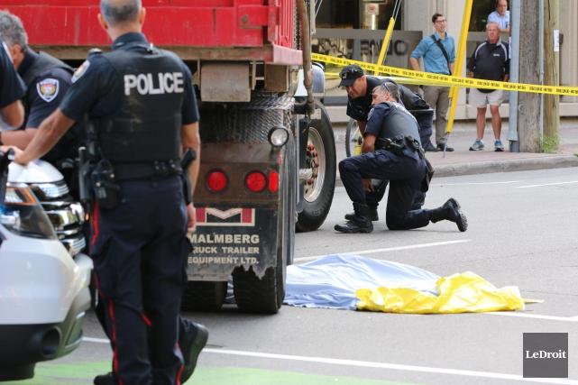 La police d'Ottawa a été présente sur la... (Patrick Woodbury, Archives LeDroit)