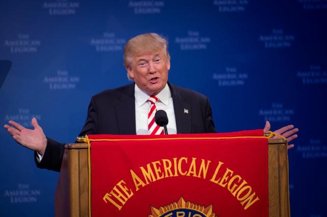 Jeudi, lors d'un discours devant la Légion américaine,... (photo Bryan Woolston, REUTERS)