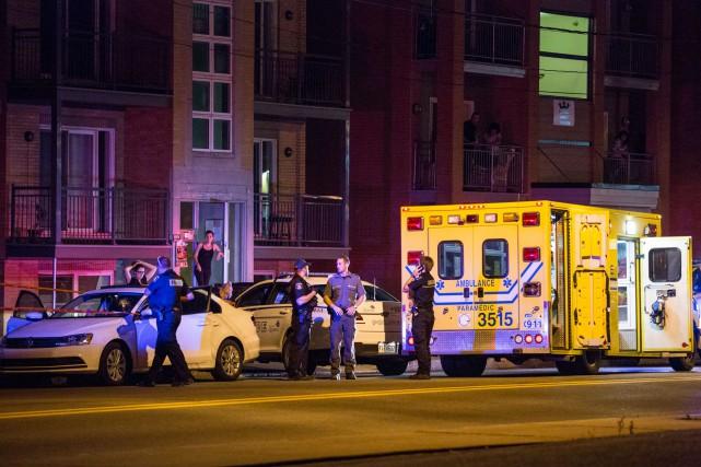La police a été appelée vers 22h55 mercredi... (Collaboration spéciale, Steve Jolicoeur)