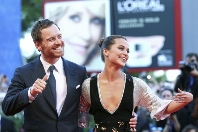 Michael Fassbender et Alicia Vikander à la Mostra.... (PHOTO REUTERS)