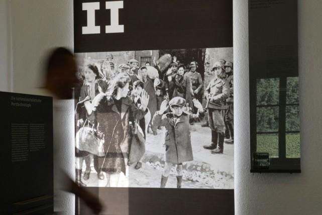 Photographie de juifs déportés lors de la Deuxième... (Archives AFP)