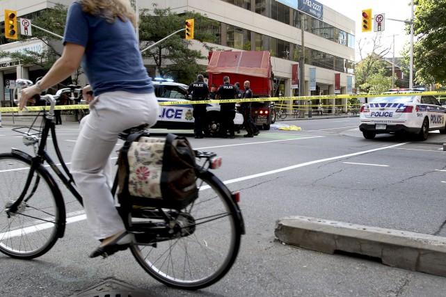 La jeune cycliste de 23 ans n'a eu... (Patrick Woodbury, LeDroit)