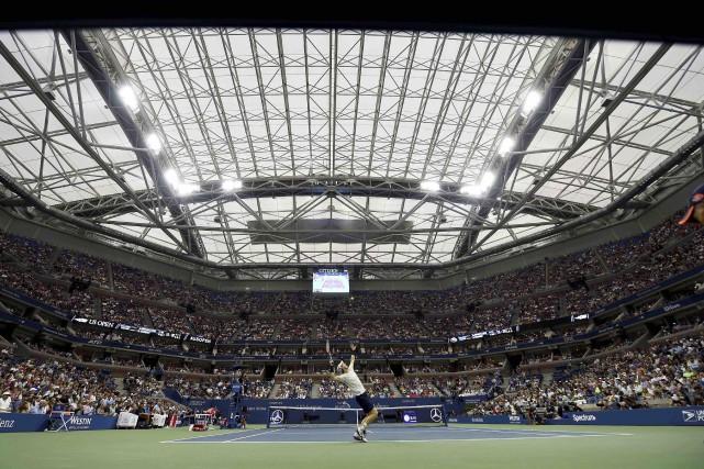 La pluie cognait tellement fort sur le toit... (AFP, Timothy A. Clary)
