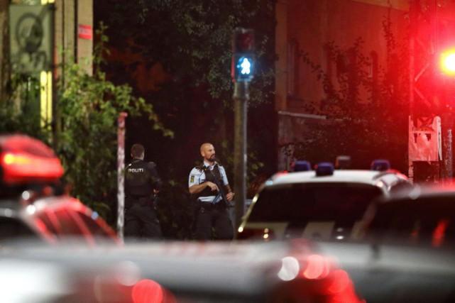 Un homme a tiré sur deux policiers à... (Photo Dresling Jens, AP/POLFOTO)
