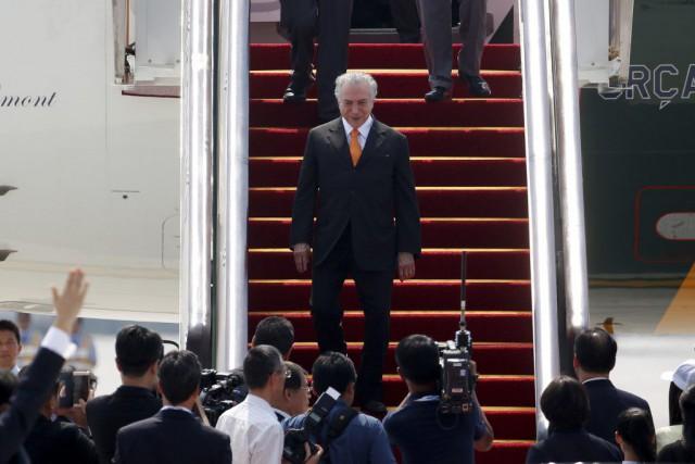 Le nouveau président brésilien Michel Temer est arrivé... (PHOTO ALY SONG, REUTERS)