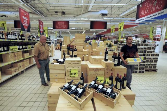 Une Foire aux vins à Strasbourg.... (PHOTO ARCHIVES AFP)