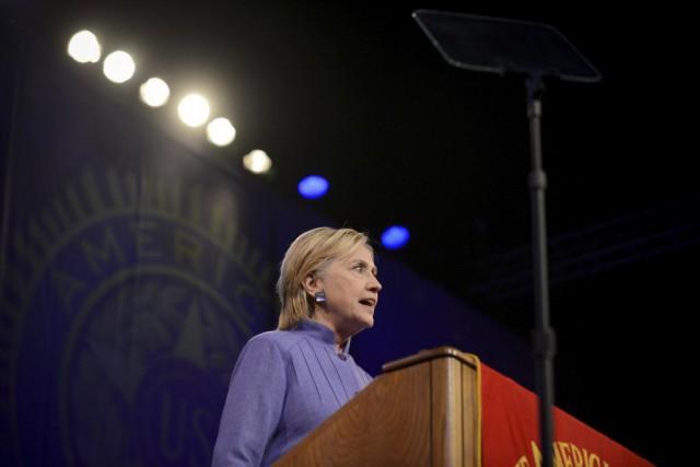 Hillary Clinton a prononcé un discours à Cincinnati,... (PHOTO BRYAN WOOLSTON, REUTERS)