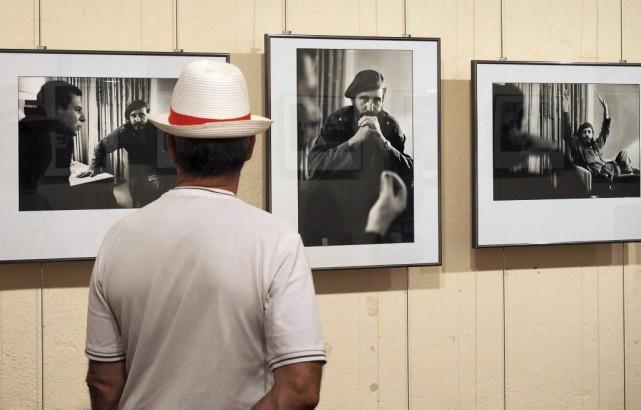 Quelques photos de Marc Riboud exposées.... (PHOTO AFP)