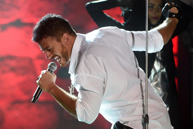 Saad Lamjarred en spectacle en juillet dernier.... (PHOTO ARCHIVES AFP)