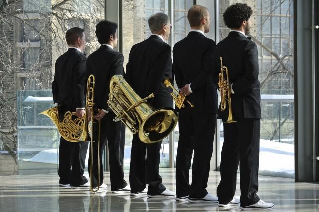 Le quintette Canadian Brass... (Courtoisie)