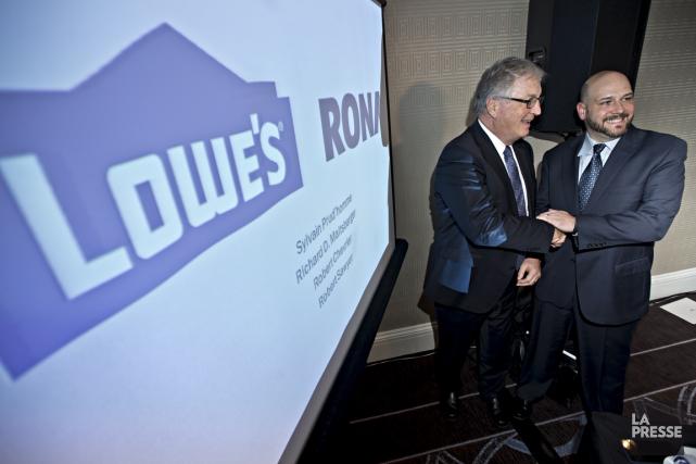 Robert Chevrier, chef de direction de Rona, et... (La Presse)