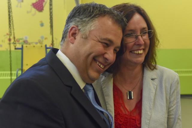 La directrice de l'école Marie-Leneuf, Micheline Hamel, débordait... (François Gervais)