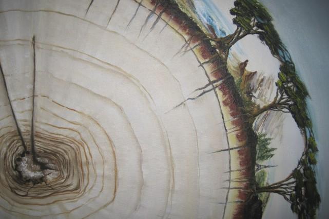 La peintre Francine Brodeur présente l'expositionMa maison sur...
