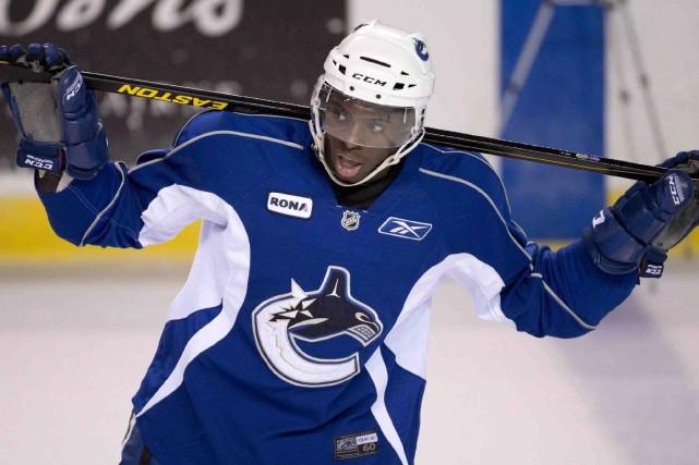 Jordan Subban, défenseur dans l'organisation des Canucks de... (La Presse canadienne, Jonathan Hayward)