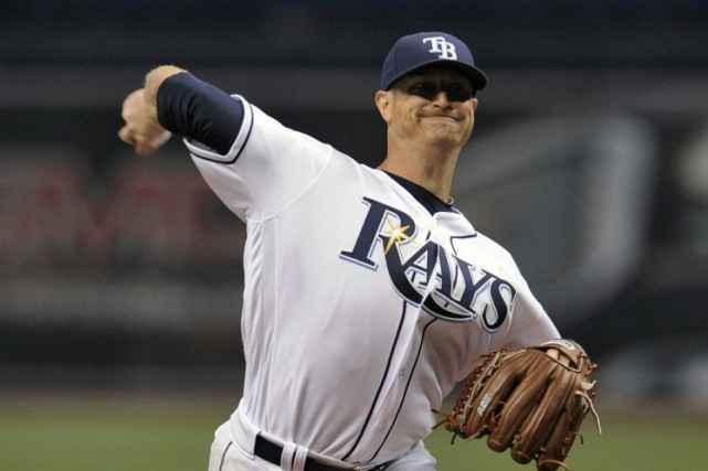 Le partant des Rays, Alex Cobb, n'a concédé... (Steve Nesius, Associated Press)