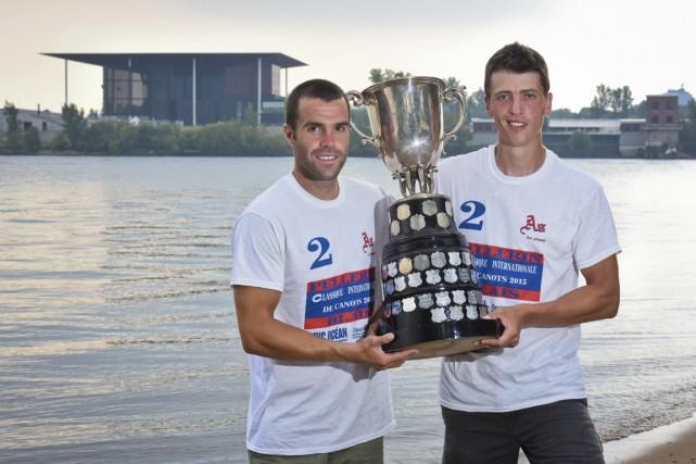 Les champions en titre Mathieu Pellerin et Guillaume... (François Gervais)