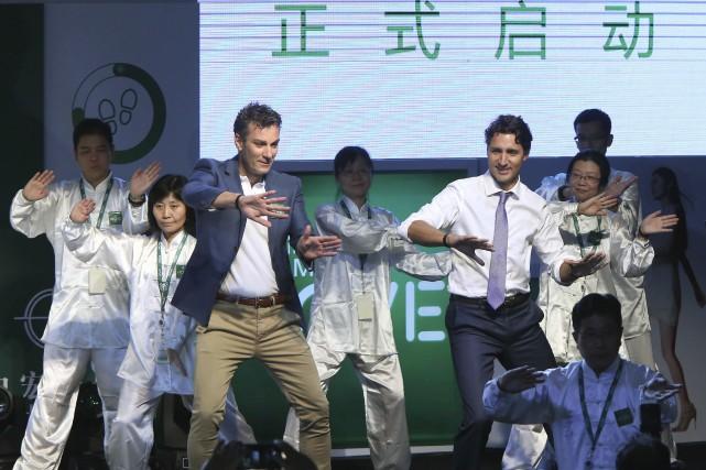 Le premier ministre Justin Trudeau s'est livré à... (AP)